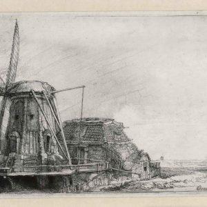 Rembrandt ets: De Molen-0