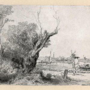Rembrandt ets De Omval