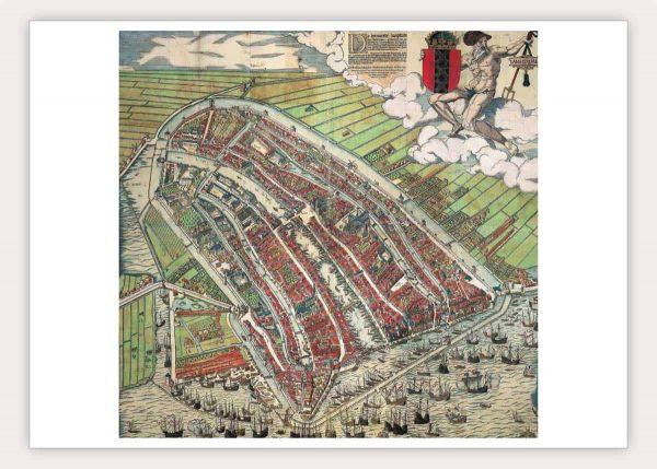 Oude kaart van Amsterdam in 1580