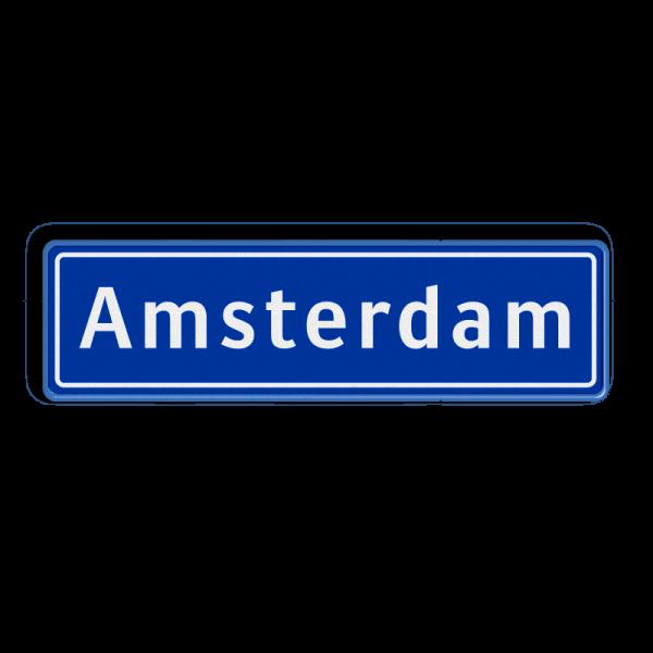 Plaatsnaambord Amsterdam (officieel)-0