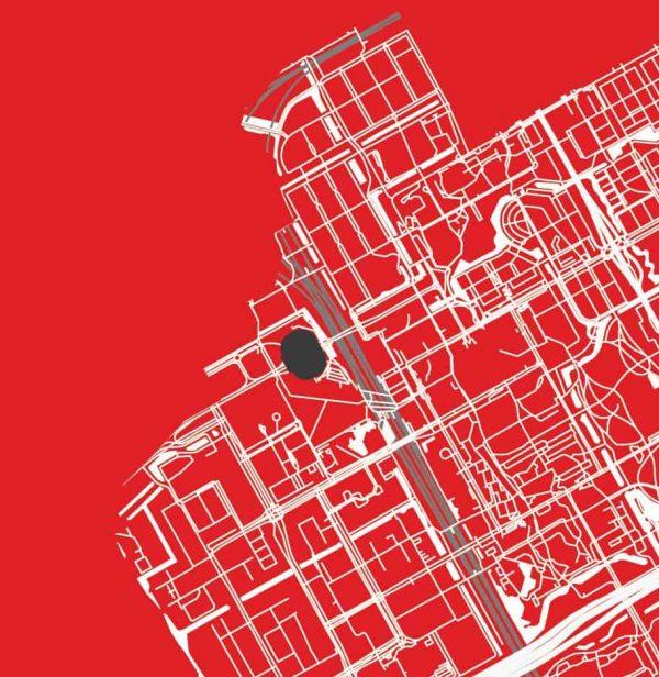 Close up Ajax Amsterdam plattegrond kaart poster