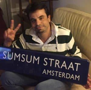 Straatnaambord Amsterdam met eigen tekst