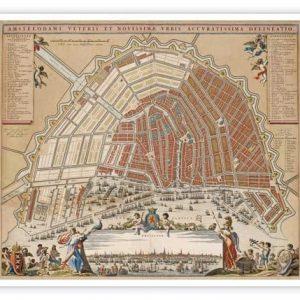 Oude kaart Amsterdam Stalpaert/Visscher