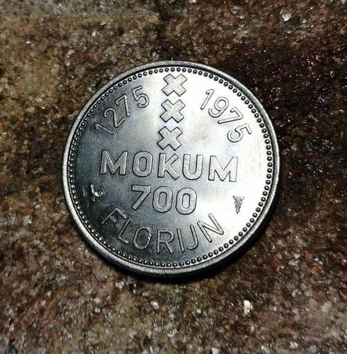 De gebruikte munt voor de Amsterdam ring met Amstelredam - 2