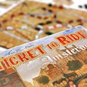 Bordspel Ticket to ride Amsterdam kaart en doos