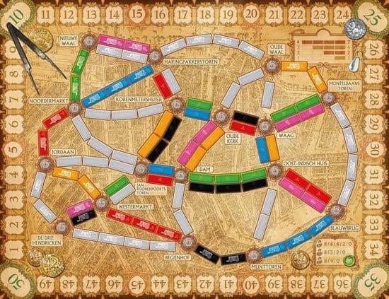 Bordspel Ticket to ride Amsterdam kaart