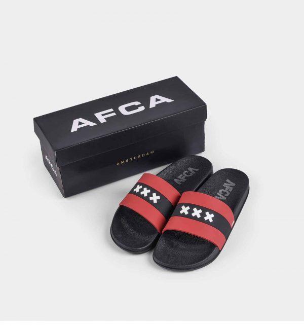 Amsterdam slippers met het wapen van Amsterdam met AFCA verpakkingsdoos