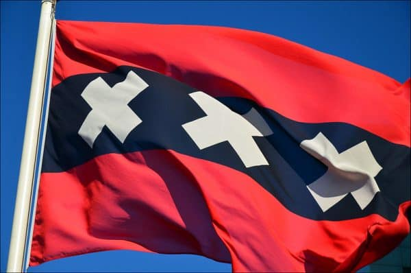 Buy Amsterdam flag - worldwide shipping
