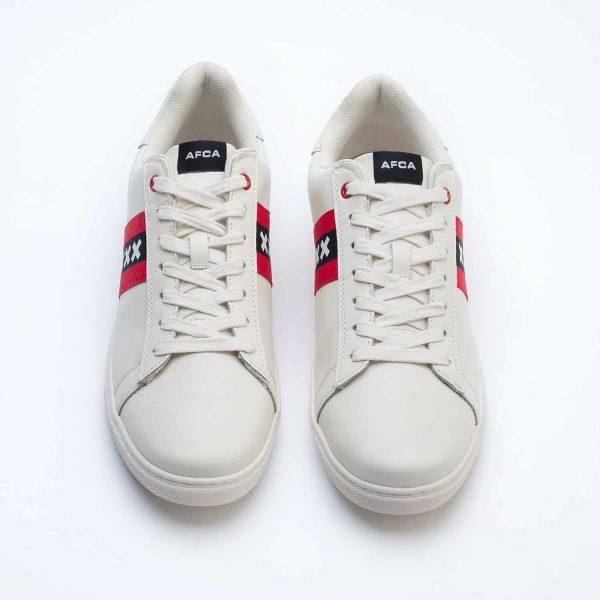 Amsterdam sneakers wit met wapen van Amsterdam bovenaanzicht