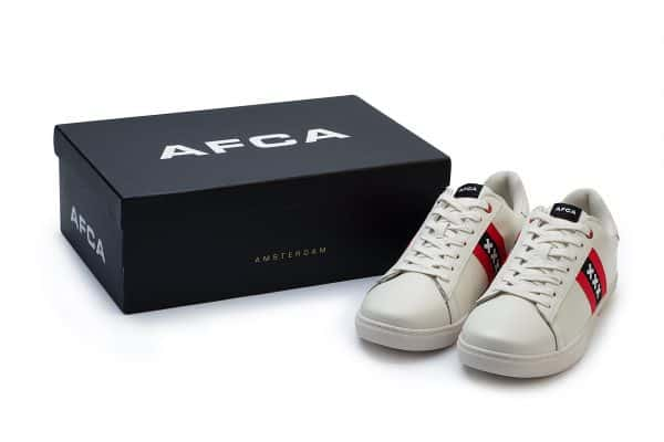 Amsterdam sneakers wit met wapen van Amsterdam met doos