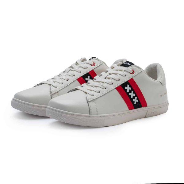 Amsterdam sneakers wit met wapen van Amsterdam