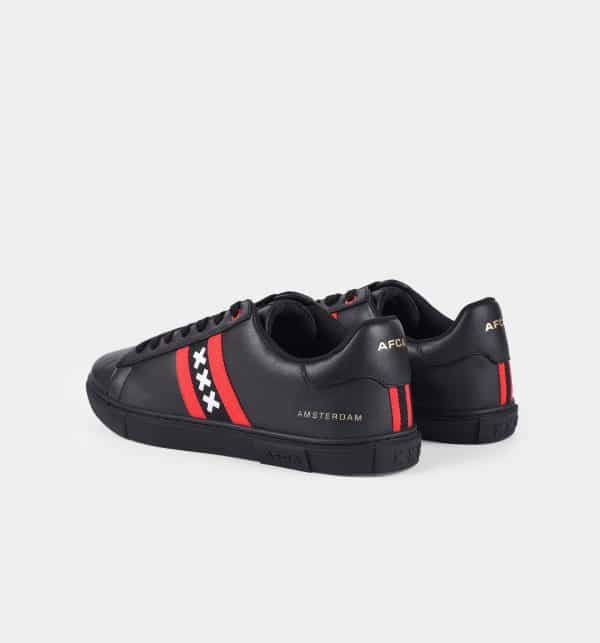 Amsterdam sneakers zwart achteraanzicht