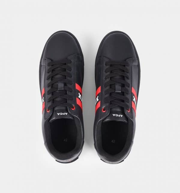 Amsterdam sneakers zwart bovenaanzicht